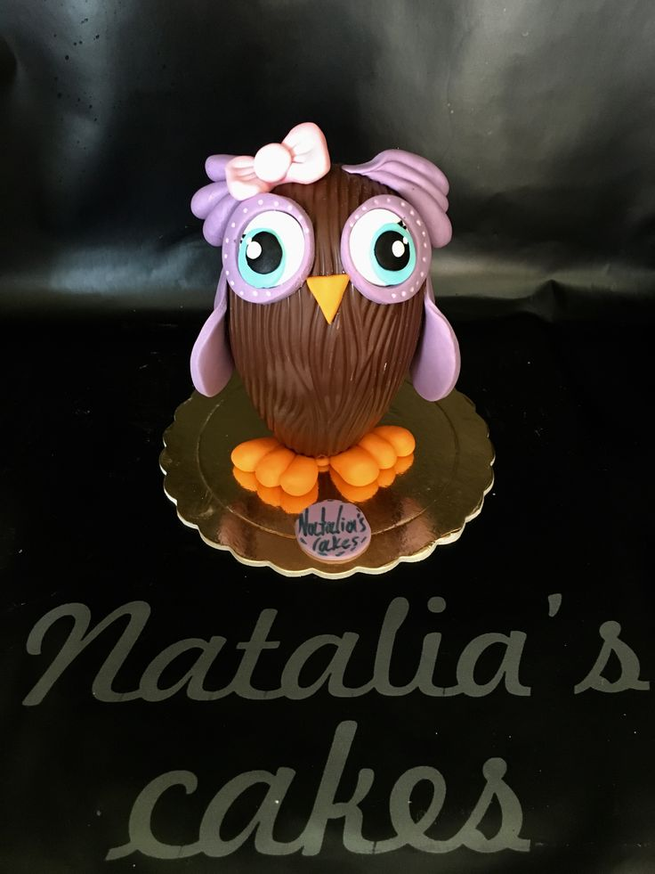 Chocolate Easter egg owl!