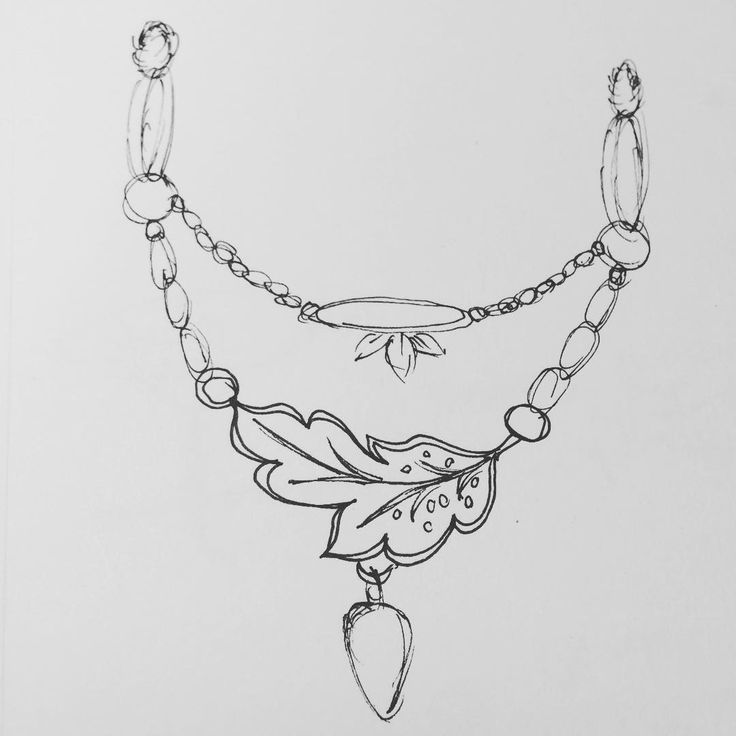 Vickie Hallmark - jewelry design sketch for a necklace