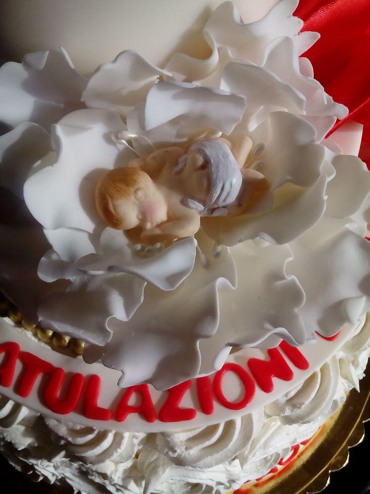 "Fiore nascita bimbo""Le torte di Maví"""