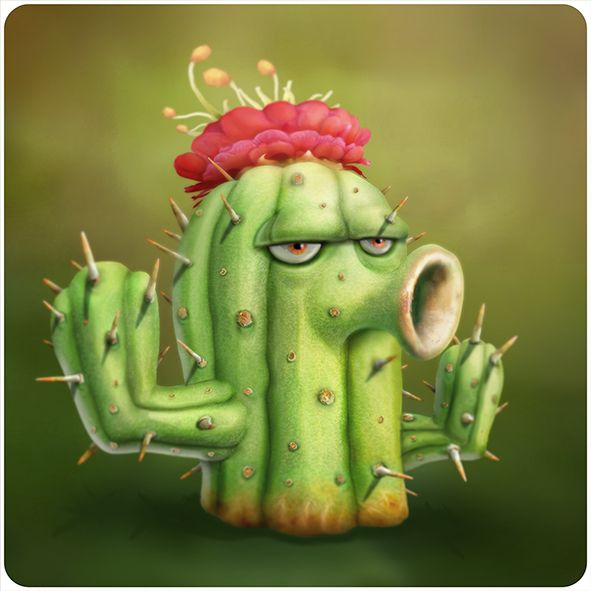 Картинки зомби против растений кактус