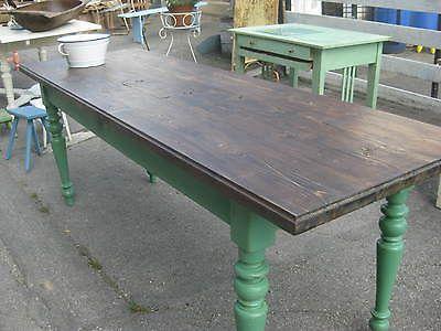 alter tisch esstisch tafel gesindetisch wirtshaustisch patina shabby chic in antiquit ten. Black Bedroom Furniture Sets. Home Design Ideas