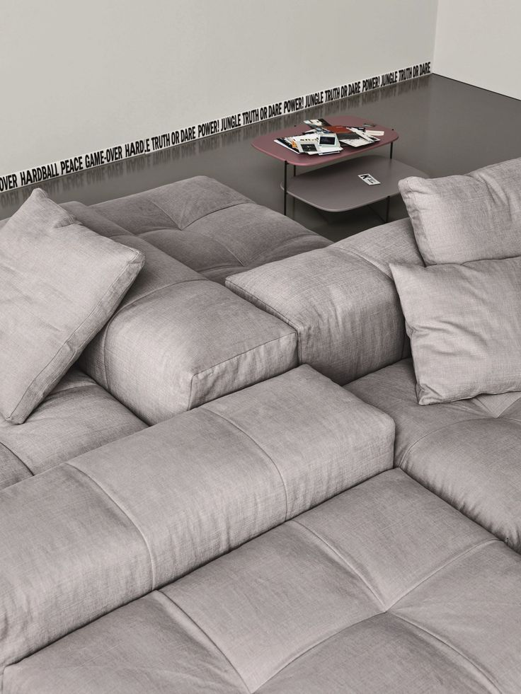 Modular Upholstered Sofa PIXEL By Saba Italia