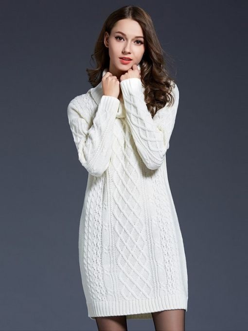 ca80956bd4e Practical and gorgeous clothes in the cold season! Vinfemass High Neck Long  Jumper