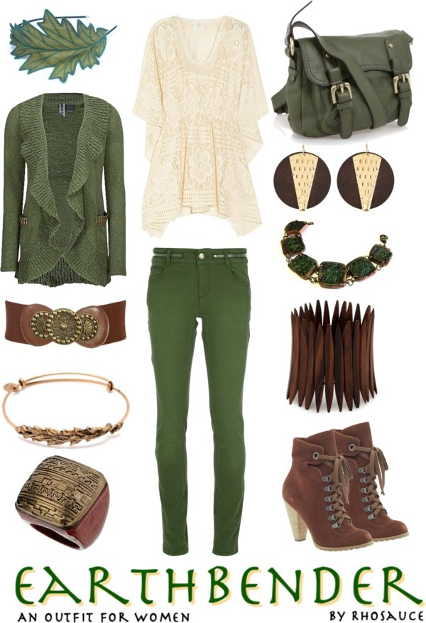 U0026quot;Earthbender (outfit for women) by Rhosauceu0026quot; by rhosaucey on Polyvore | Nerd / Geek Clothes and ...