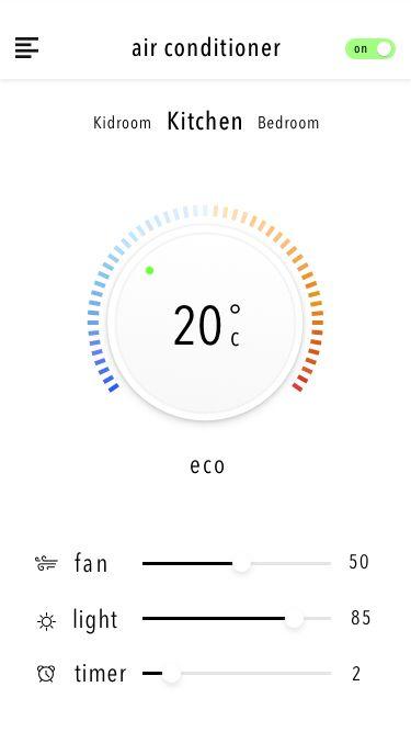 Smart Home Control Center App - by Zhu Sheng   #ui #ios