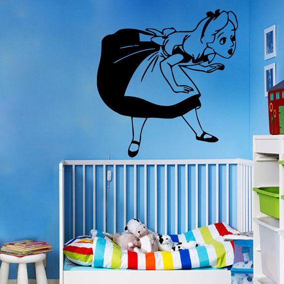 Cartoon Wall Decals Baby Girl Nursery Room Bedding Fairy Alice In Wonderland Home Vinyl Decal Sticker Kids Nursery Baby Room Decor    ☆ º ♥