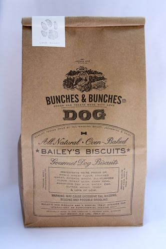 Bailey's Dog Biscuits #packaging #design