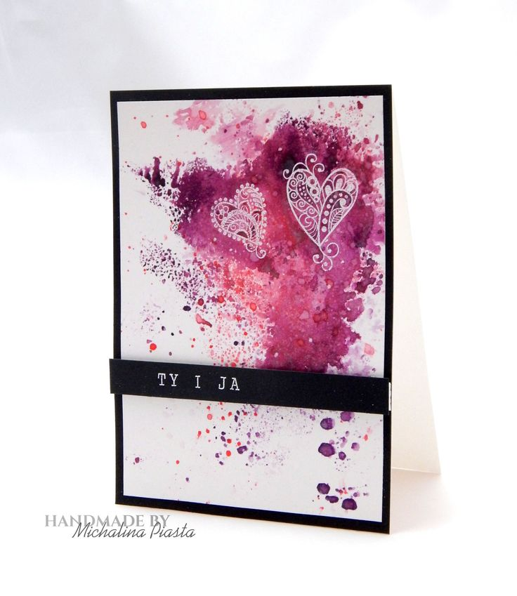 You And Me, disstress inks and white heat embossing