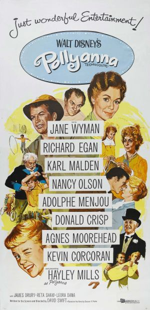 """Pollyanna Poster-Great collection of quality actors also. Wonderful adaptation of the Eleanor H. Porter """"Pollyanna"""" story. A fun family movie!"""
