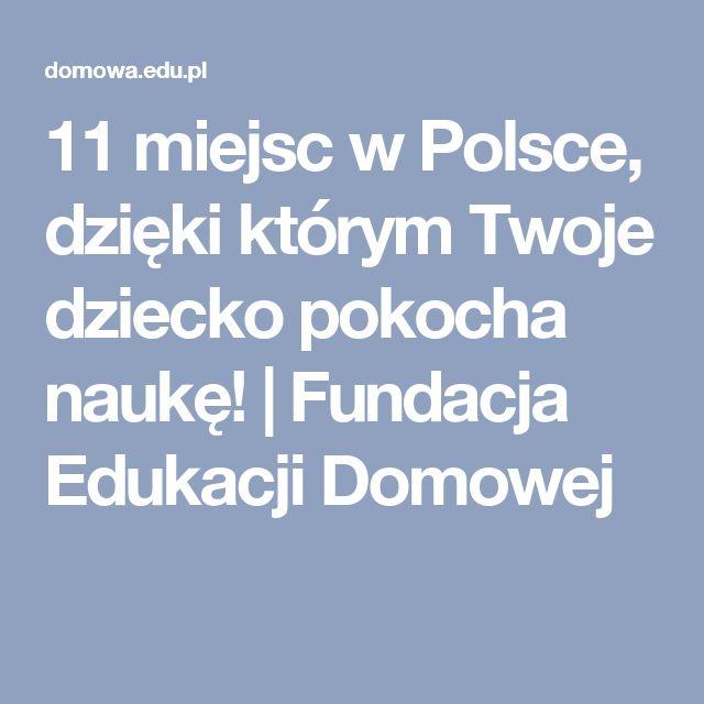 11 miejsc w Polsce, dzięki którym Twoje dziecko pokocha naukę! | Fundacja Edukacji Domowej