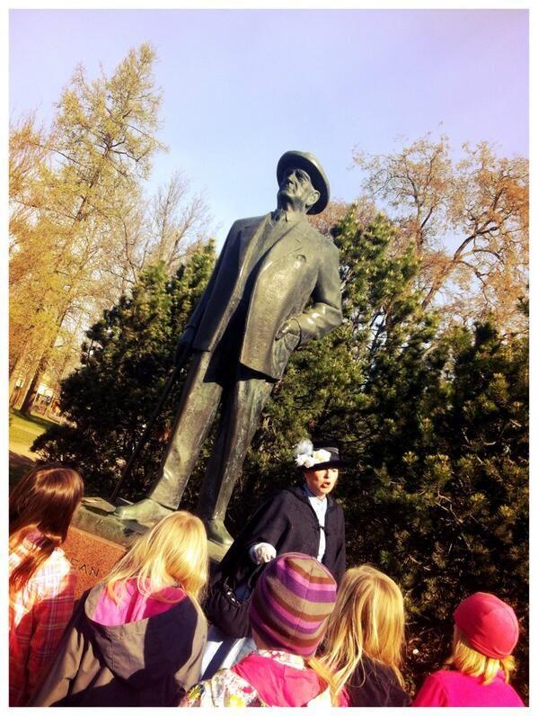 Photo by Katja Kokko. Statue of Jean Sibelius in Järvenpää
