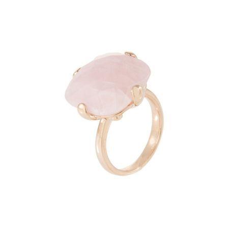 Bronzallure Ring Rose Goud Met Rozenkwarts WSBZ00281R