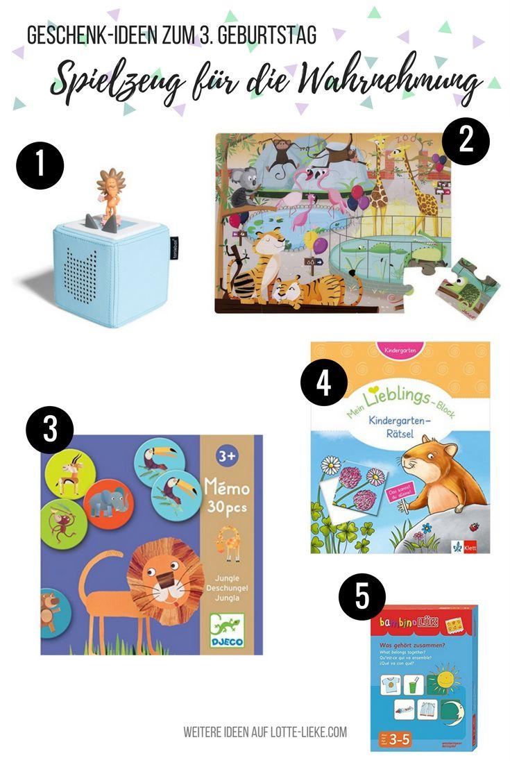 Pädagogisch wertvolle Geschenk-Ideen für 3 Jährige Kleinkinder zum Geburtstag oder zu Weihnachten ( hier zum Fördern der Wahrnehmung)