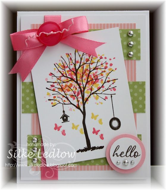 """By Silke Ledlow, featuring Stampin' Up! """"Branch Out"""", but could be substituted with """"Sheltering Tree"""" and """"Perpetual Birthday Calendar"""" stamp sets ..."""