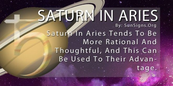 Saturn In Aries | Sun Signs