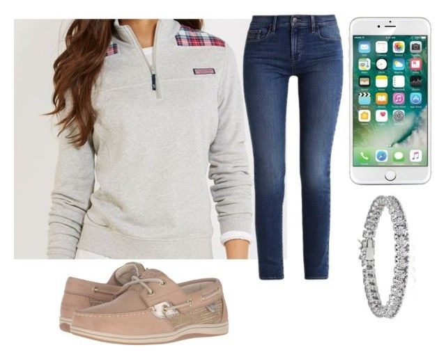 Thursday Outfit 2 by secrowenj on Polyvore featuring Calvin Klein, Sperry and Apples & Figs