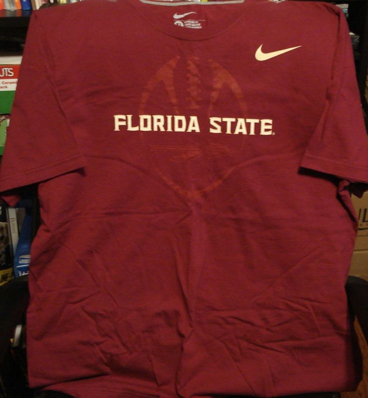 Nike Florida State Football Graphic Garnet Short Sleeve T- Shirt Cotton [XL] Very Good Used Condition. | eBay!