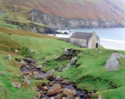Irish cottage by the sea