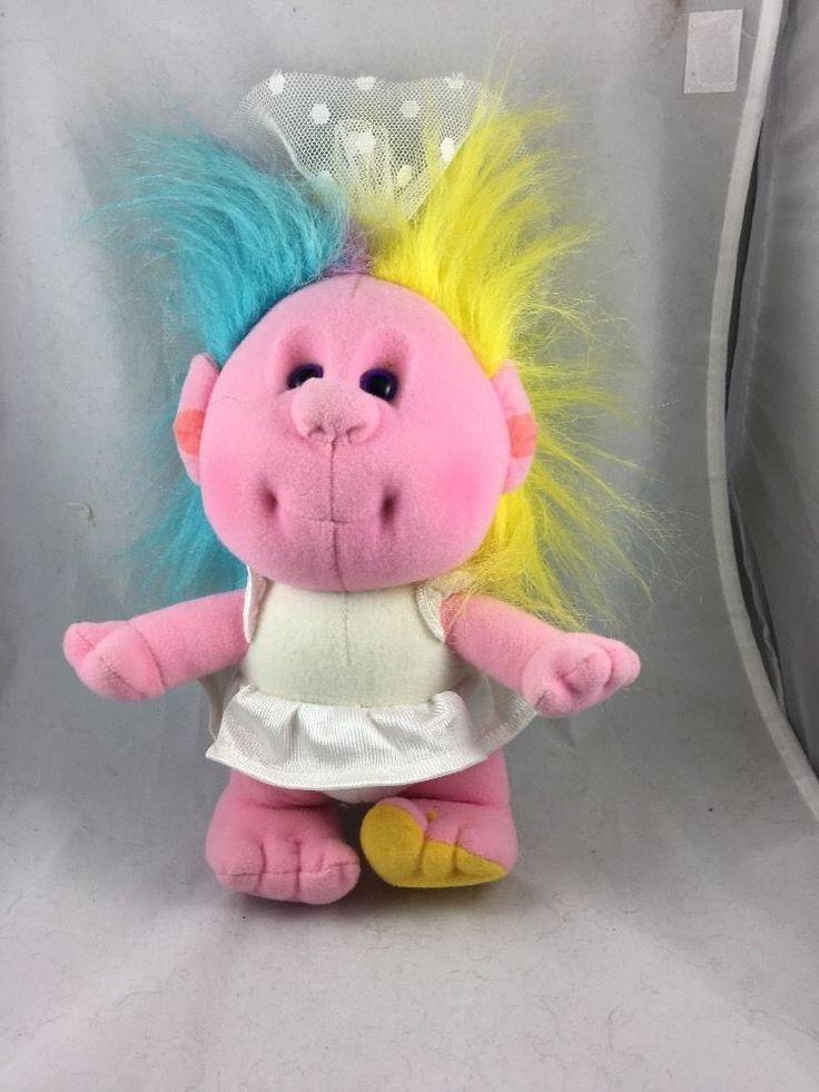 "10"" Playskool Aunt Bridey Hobnobbins Plush Stuffed Pink Girl Doll Bride Rare VTG #Playskool"