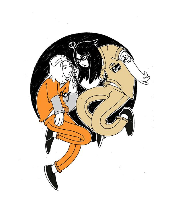 Orange is the new black  Sketchbook by Ro Zambrano, via Behance