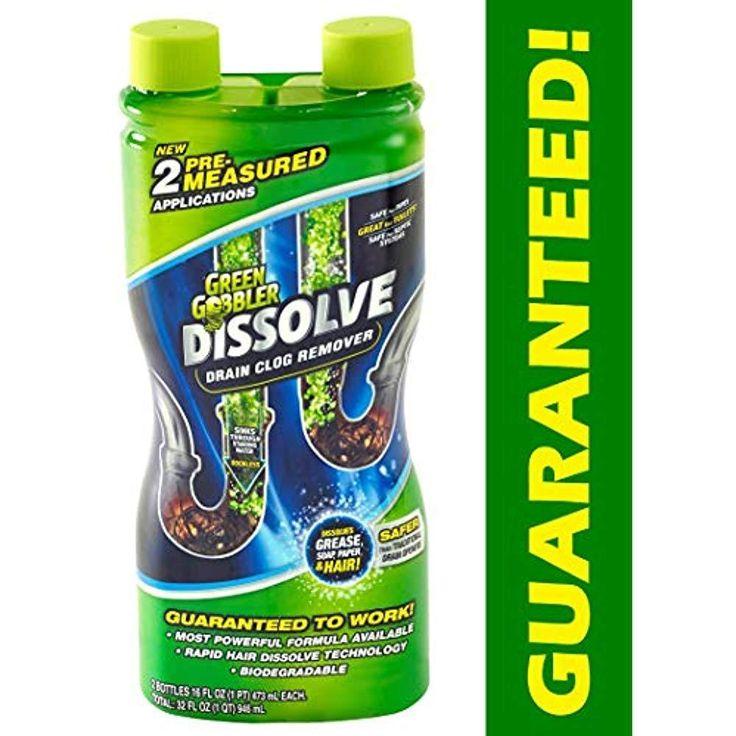 Dissolve liquid hair grease drain clog remover toilet sink