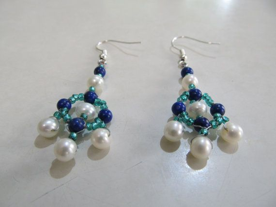 Pearl and Lapis Lazuli Earrings