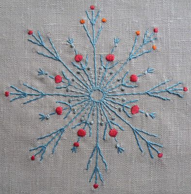 http://www.nancynicholson.co.uk/radialmotif.html — in white, as snowflake