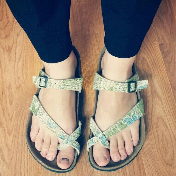 Birkenstock Papillio Tabora Sandals 5 Years Blue And