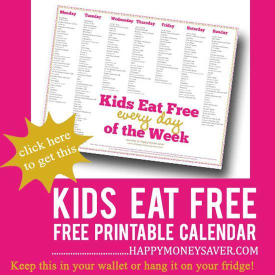 Kids Eat FREE List - Happy Money Saver