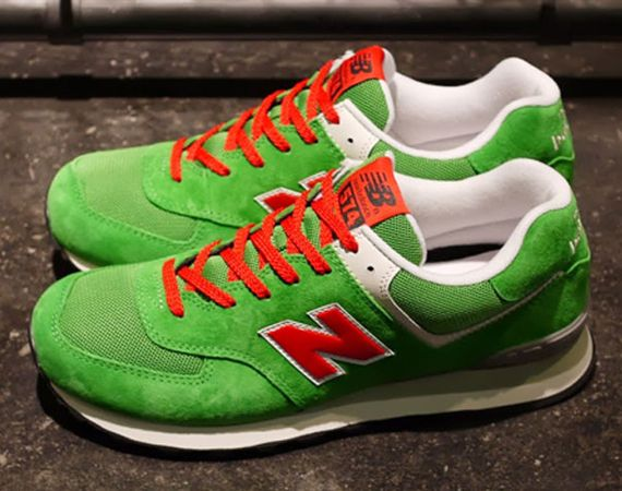 New Balance 574 – Green – Red – White