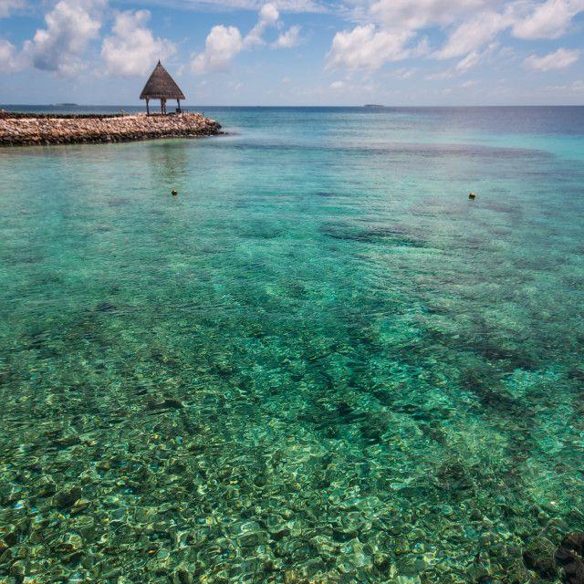 """Blue lagoon at Maldivian island"" by Jenny Rainbow - £10"