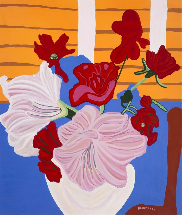 Maripaz Jaramillo (Colombian, b. 1938), Tropical Flora, 1993. Oil on canvas, 203 x 170 cm.