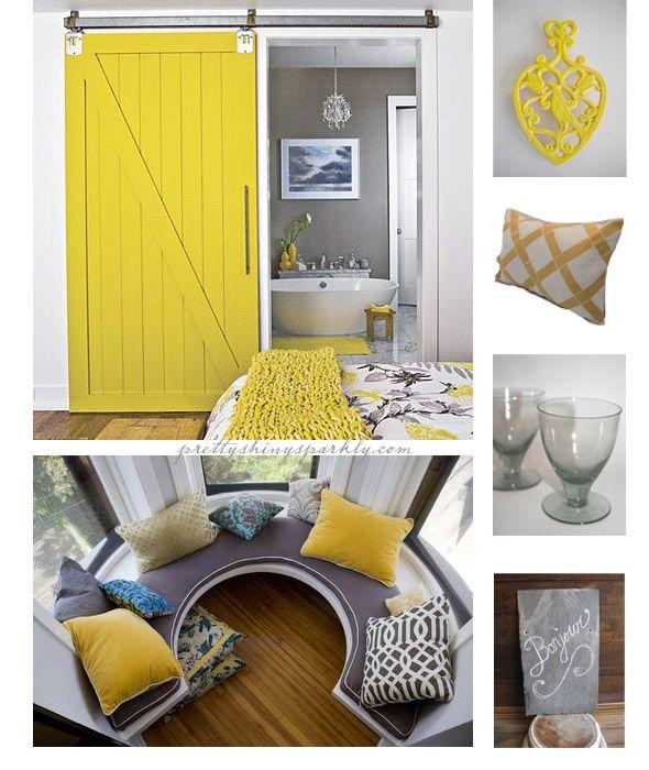 love the barn doorDecor Ideas, House Ideas, Barn Doors, Yellow Inspiration, Grey Inspiration, Master Bedrooms, Barns Doors, Future Ideas, Yellow Barns