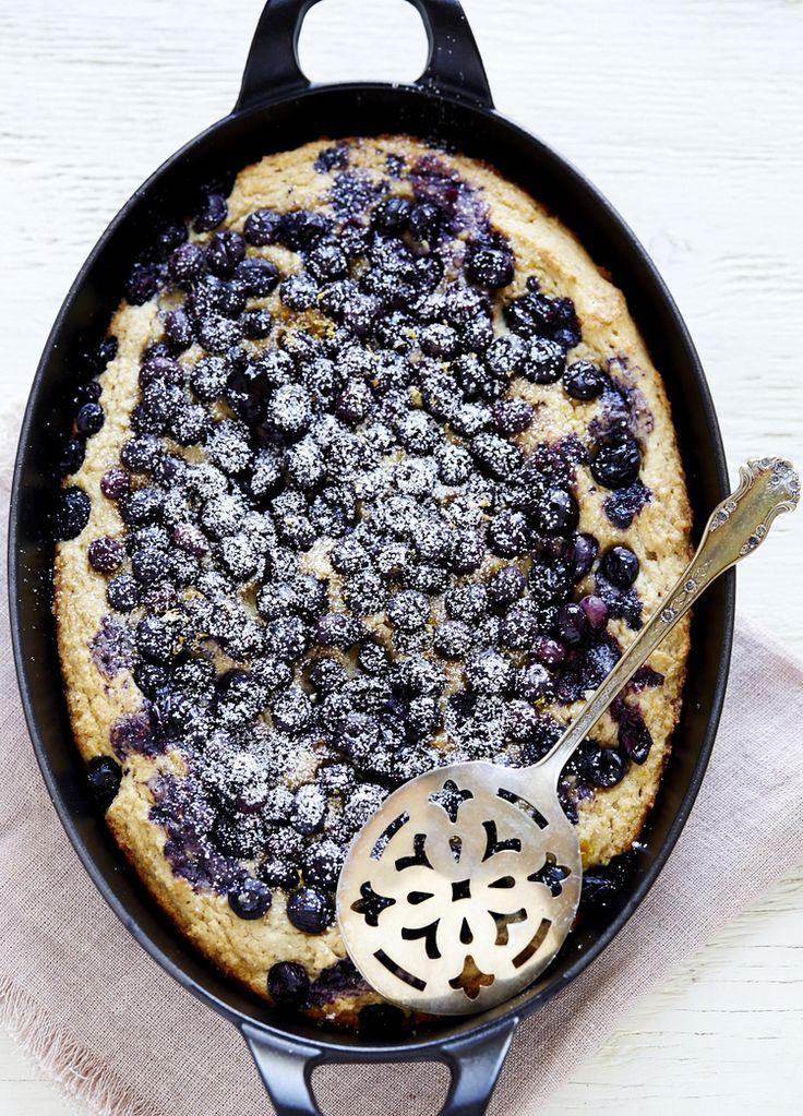 Blueberry & Ricotta Skillet Cake (gluten free) | Sassy Kitchen
