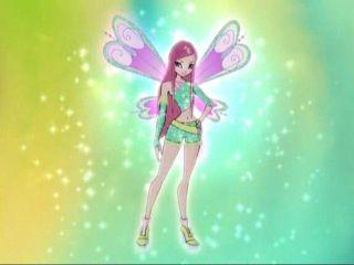 Roxy's first fairy transformation winx :)