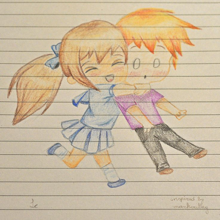 "chibi hug sketchbook, inspired by ""Chibi Hug, Step by Step by markcrilley on deviantART """