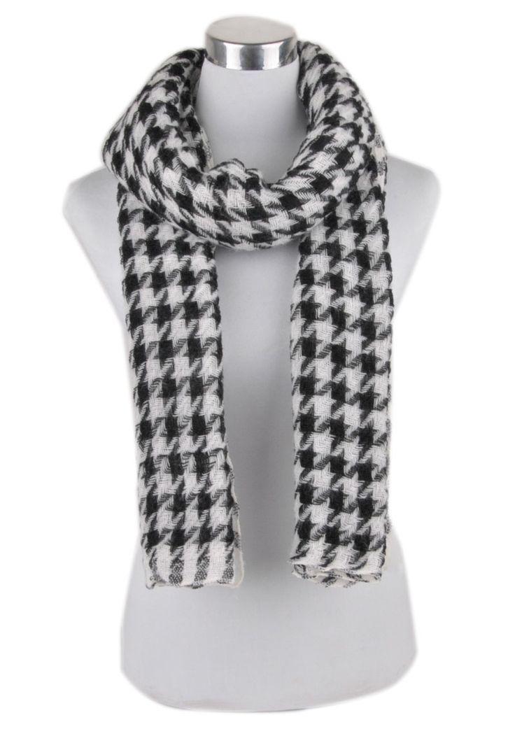 #Scarf White & Black #Check prints