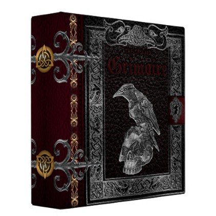 The Grand Grimoire Witches Book Of Shadows 3 Ring Binder - floral style flower flowers stylish diy personalize