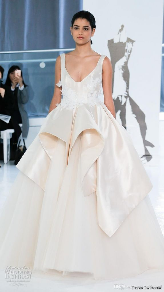 Stunning wedding dresses with peplum wedding dresses for the mature bride Check more at http