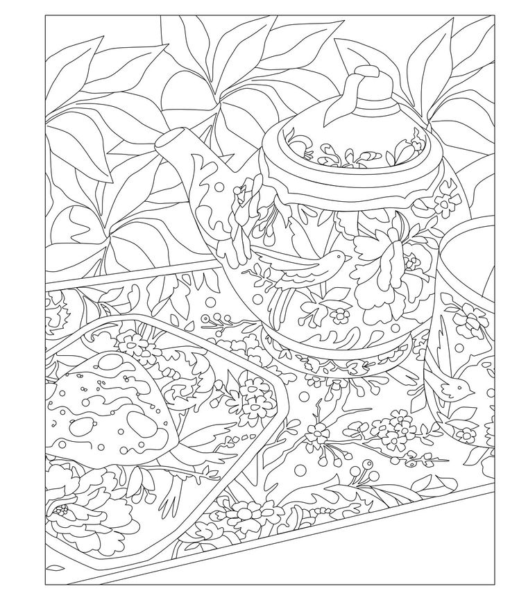 738 best ✐☕Adult Colouring~Coffee~Tea~Cakes ☕✐ images on ...