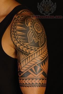Arm Polynesian Tattoo