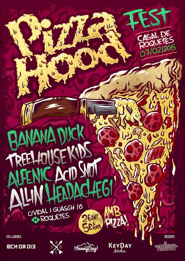 Pizza Hood Fest 2015 on Behance