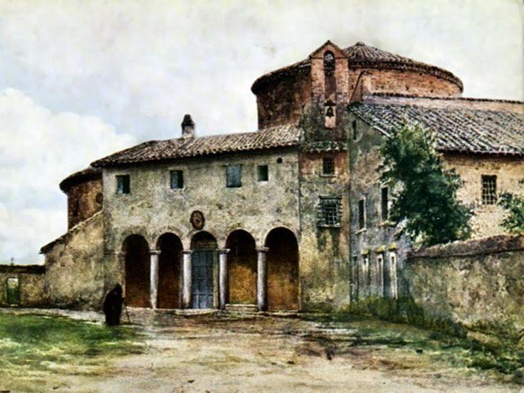 Ettole Roesler Franz. Basilica of Santo Stefano Rotondo, 1896.