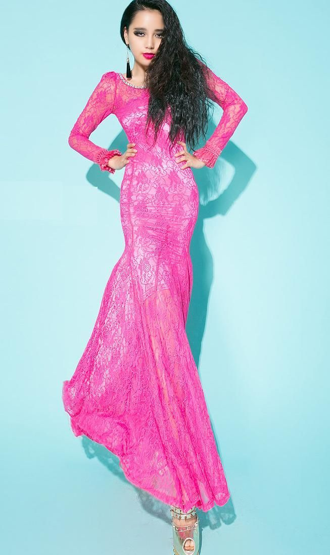 9 best hot pink dresses images on Pinterest | Bright pink ...