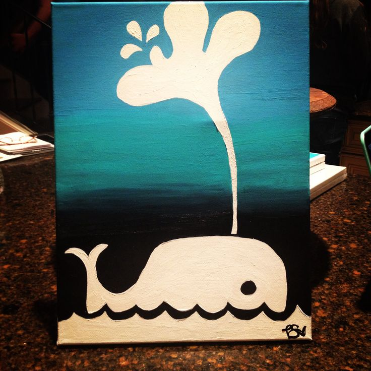 simple whale painting diy cute project ideas
