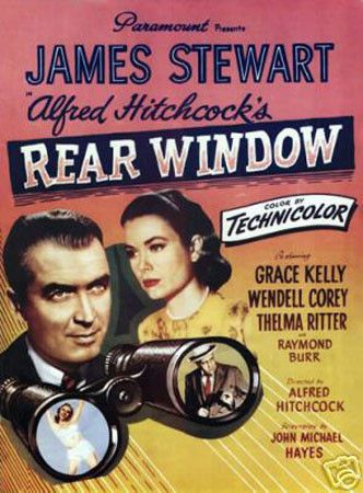 Rear Window James Stewart Vintage Movie Poster