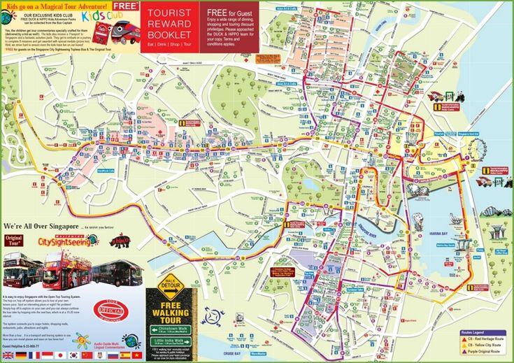 Singapore tourist map