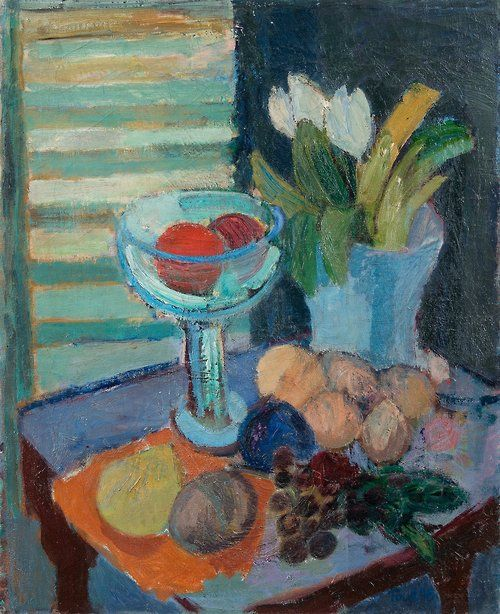 TOVE JANSSON Still Life with Fruit and Tulips (1946)
