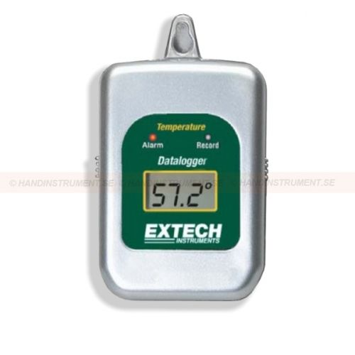 http://handinstrument.se/termometer-r1288/datalogger-temperatur-53-42260-r1453  Datalogger, temperatur  Brett mätområde: -40 till 85 ° C (-40 till 185 ° F)  Registrerar upp till 8000 avläsningar  Används till kyl-container, kyltransportbilar, frysar mm för att övervaka temperatur  Loggar data för dagar, veckor eller månader - upp till 1 års batteritid  Programmerbar samplingsfrekvens från 1sek till 2tim plus Hi / Lo gränser med larmindikering  LCD visar aktuell temperatur  Kräver...