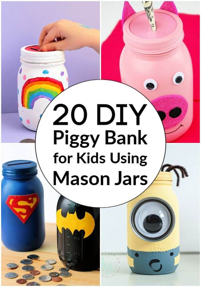 So Growing Up My Parents Always Taught Me To Save Money In The Most Creative Ways They Could Find And I Really In 2020 Piggy Bank Diy Diy Jar Crafts